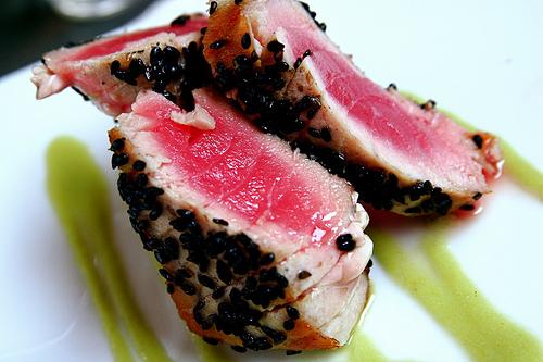 recipe: pan seared tuna with wasabi sauce [4]